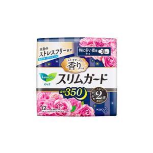 ロリエ スリムガード スイートローズ 特に多い夜用350 12個入り (医薬部外品) |fukuei