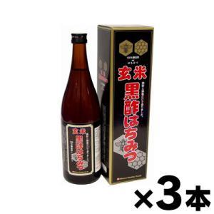 ミナミヘルシーフーズ 玄米黒酢はちみつ 720ml(お取り寄せ品)×3本 |fukuei