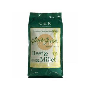 【送料無料】 C&R ビーフ&ミレット 10ポンド(4.54kg) (旧SGJビーフ&バーリー)(お取り寄せ品)  fukuei
