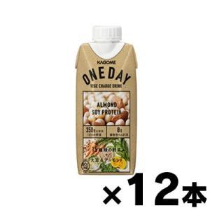 カゴメ ONE DAY ALMOND SOYPROTEIN(ワンデイ アーモンド ソイプロテイン) 330ml×12本|fukuei