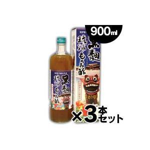 ミナミヘルシーフーズ 黒麹琉球もろみ酢 900mL(お取り寄せ品)×3本 |fukuei