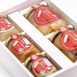 小さな福箱 朝採り果物のコンポートと新感覚食べるジャムの5点セット 送料無料 ふくしまプライド。体感キャンペーン(その他)|fukufukugenki|02