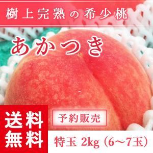予約販売 福島県産 桃 もぎたて完熟 あかつき 特玉 約2k...