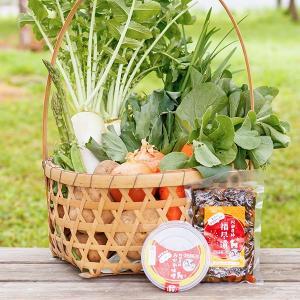 朝採り新鮮旬野菜を産地直送 うまいもんセット 野菜 手作り福尽漬 えごま入りおかず味噌|fukufukugenki|03