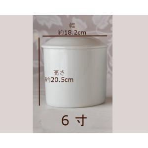 陶器製 白磁骨壷6寸サイズ|fukufukuyama