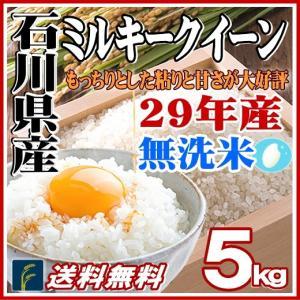 米 5kg 29年産 無洗米 石川県産 ミルキークイーン 5kg 送料無料|fukuikomeya