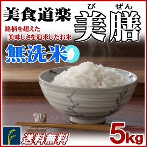 お米 5kg 無洗米 美食道楽 美膳 国内産 白米 送料無料|fukuikomeya