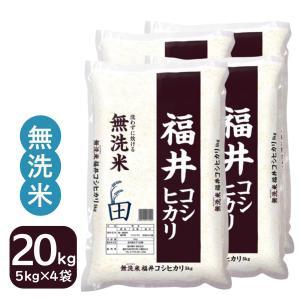 米20kg  無洗米5kg×4袋 コシヒカリ お米 福井県産 白米  特A 29年産 送料無料|fukuikomeya