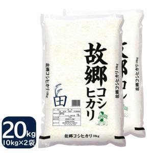 お米 20kg コシヒカリ 国内産 白米 10kg×2 29年産 故郷コシヒカリ 送料無料 一部地域を除く|fukuikomeya