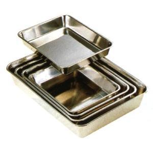 調理用バット 18-8角バット6枚取 7-0131-0404 8-0131-0404|fukuji-net