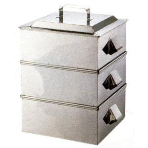 せいろ 21-0 業務用角蒸器2段36cm 7-0385-0203 8-0391-0203|fukuji-net