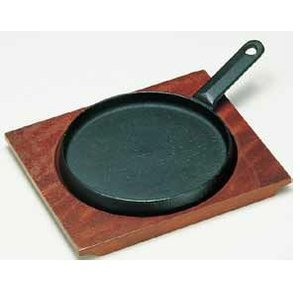ステーキ皿 鋳鉄製 トキワ ステーキ皿 324 柄付 浅型 大 6-1660-1101 7-1741...
