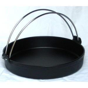 すきやき鍋 トキワ鉄すきやき鍋 黒 ツル付24cm 7-1993-0201 8-2045-0201|fukuji-net