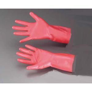 ゴム手袋 ダンロップ リッチネうす手 手袋ピンク(天然ゴム製・裏毛付)M  7-1383-0102 fukuji-net
