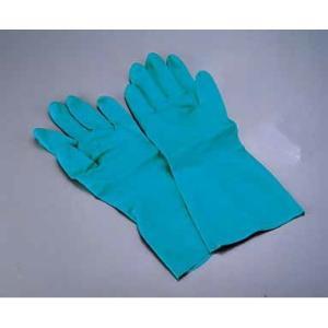 ゴム手袋 ダンロップ ワークハンズB-121(ニトリル製・裏植毛付)L 7-1383-0802 fukuji-net