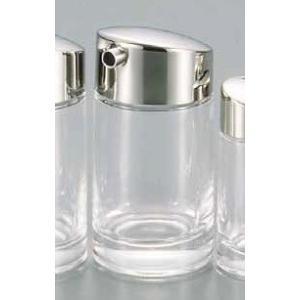 ●サイズ:φ52×H104mm ●容量:110cc ●材質:本体/ガラス、蓋/ステンレス