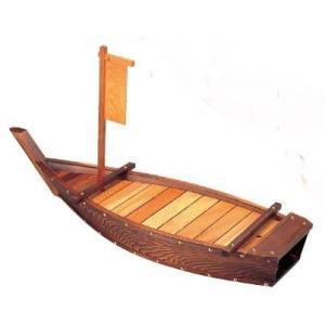 舟盛り器 木製4尺焼杉大漁舟121cm f6-752-5