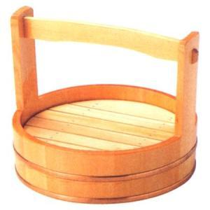 お造り盛込器 岡持ち型盛器 目皿付7寸 木製 f6-749-10