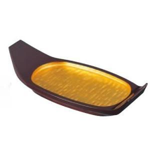 舟盛り 器 小判舟 金粉蒔 1人用 ABS樹脂24cm f6-527-3