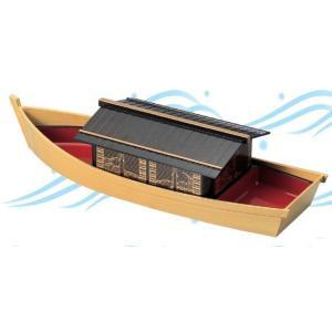 舟盛り 器 源氏やかた舟 白木 やかた重仕切付 1人〜2人用 ABS樹脂46cm f6-528-1