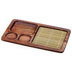 そば用食器 木製ネズコ天ざるプレート本体 f6-802-15|fukuji-net