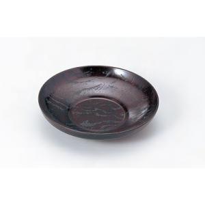 茶托 2.8寸 ダルマ茶托 漆刻木目 ミニサイズ 木質 f6-1447-2 fukuji-net