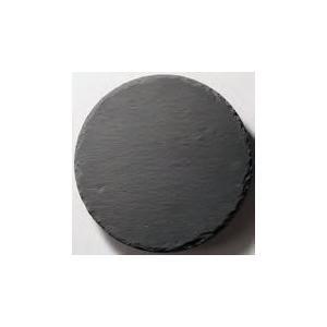 皿 丸 ストーンプレート(天然石) φ15cm 黒色スレート fukuji-net