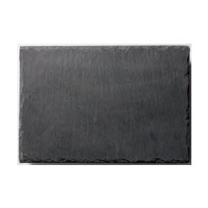 皿 長角 ストーンプレート(天然石) 30×20cm角 黒色スレート|fukuji-net