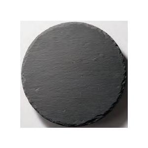 皿 丸 ストーンプレート(天然石) φ25cm 黒色スレート fukuji-net