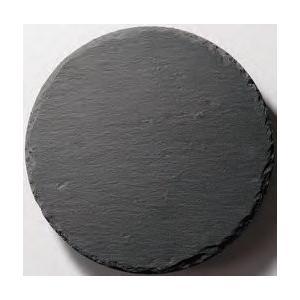 皿 丸 ストーンプレート(天然石) φ30cm 黒色スレート fukuji-net