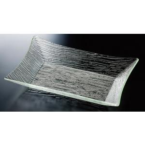 さざ波四方上り長角盛鉢 55cm本体 ●サイズ:550×402×H90mm ●材質:アクリル樹脂 ●...