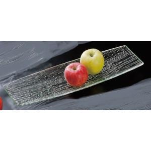 さざ波 胴張盛皿 54cm ●サイズ:540×178×H33mm ●材質:アクリル樹脂 ●耐熱温度:...