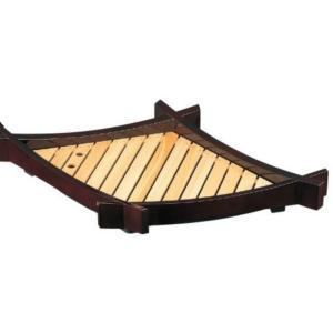 寿司桶 松葉盛器(中)木製目皿付 溜 樹脂製