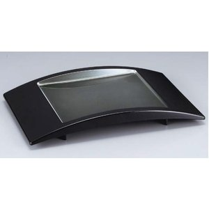 和食器 江戸盛器 黒銀かすみ ABS樹脂 f6-593-3