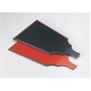 前菜盛皿 はご板両面皿 朱天黒/千筋黒天朱 両面タイプ ABS樹脂 f5-482-4