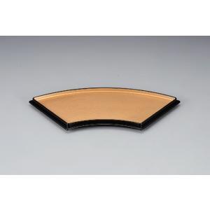 和食器 扇面皿 金パール/黒天朱 ABS樹脂 f6-592-4