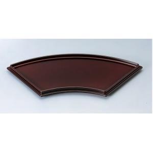 和食器 扇面皿 溜渕黒/黒天朱 ABS樹脂 f6-592-3