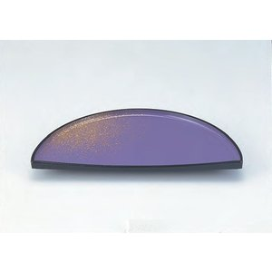 和皿 三ケ月盛器 紫金ぼかし メラミン樹脂 f5-490-5