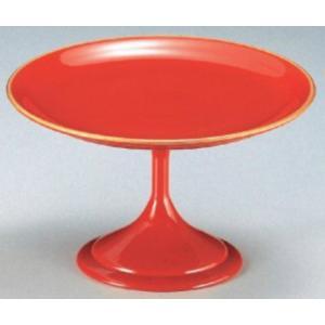 和食器 5.5寸高月盛皿 朱天金 樹脂製 f6-608-2
