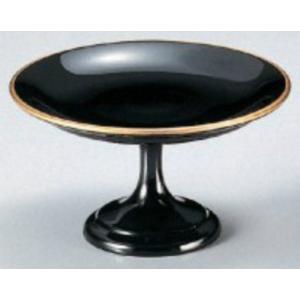 和食器 4寸高月盛皿 黒天金 樹脂製 f6-608-3