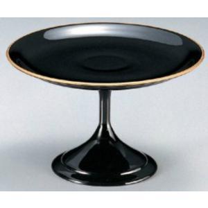 和食器 5.5寸高月盛皿 黒天金 樹脂製 f6-608-4