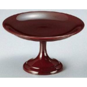 和食器 4寸高月盛皿 溜 樹脂製