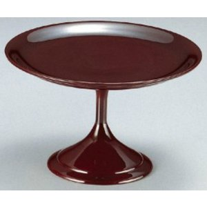 和食器 5.5寸高月盛皿 溜 樹脂製