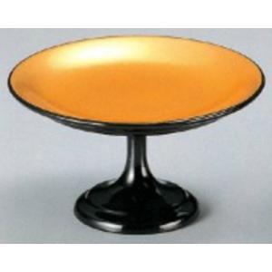 和食器 4寸高月盛皿 黒内金粉蒔き 樹脂製