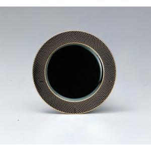 18cm丸プレート 金銀武蔵野黒 耐熱ABS樹脂 食器洗浄機対応