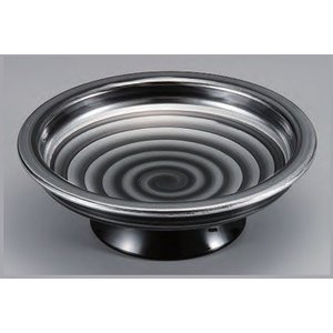セラミーター 5.5寸 日輪高月盛鉢 銀渦 樹脂製食器 食器洗浄機対応 f6-682-4