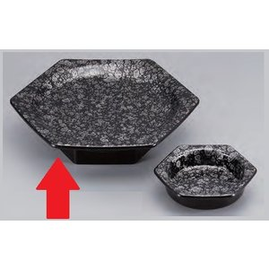 セラミーター 6.5寸 亀甲高月盛鉢 本体 銀津軽 樹脂製食器 食器洗浄機対応 f6-682-9