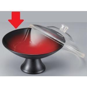 セラミーター 高月錦鉢 本体 朱黒ぼかし毘沙門天 樹脂製食器 食器洗浄機対応 f6-680-9