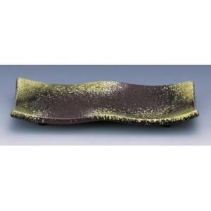 セラミーター 8寸 彩曲焼物皿 備前流し ●サイズ:233×92×30mm ●材質:耐熱ABS樹脂 ...