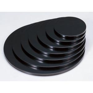 お造り盛込器 丸多用盛台 黒 7寸 木製 f6-737-10